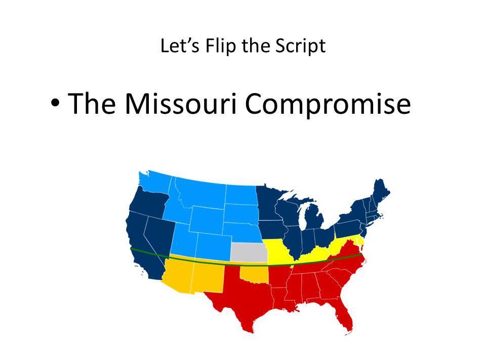 Let's Flip the Script The Missouri Compromise