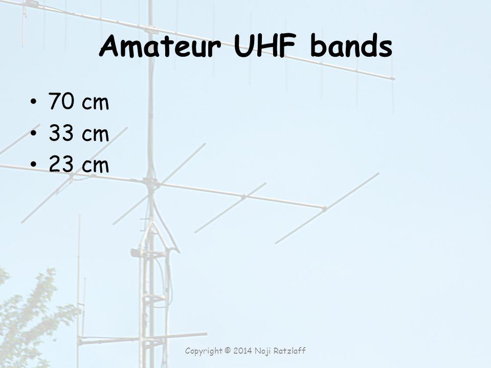 Amateur UHF bands 70 cm 33 cm 23 cm Copyright © 2014 Noji Ratzlaff