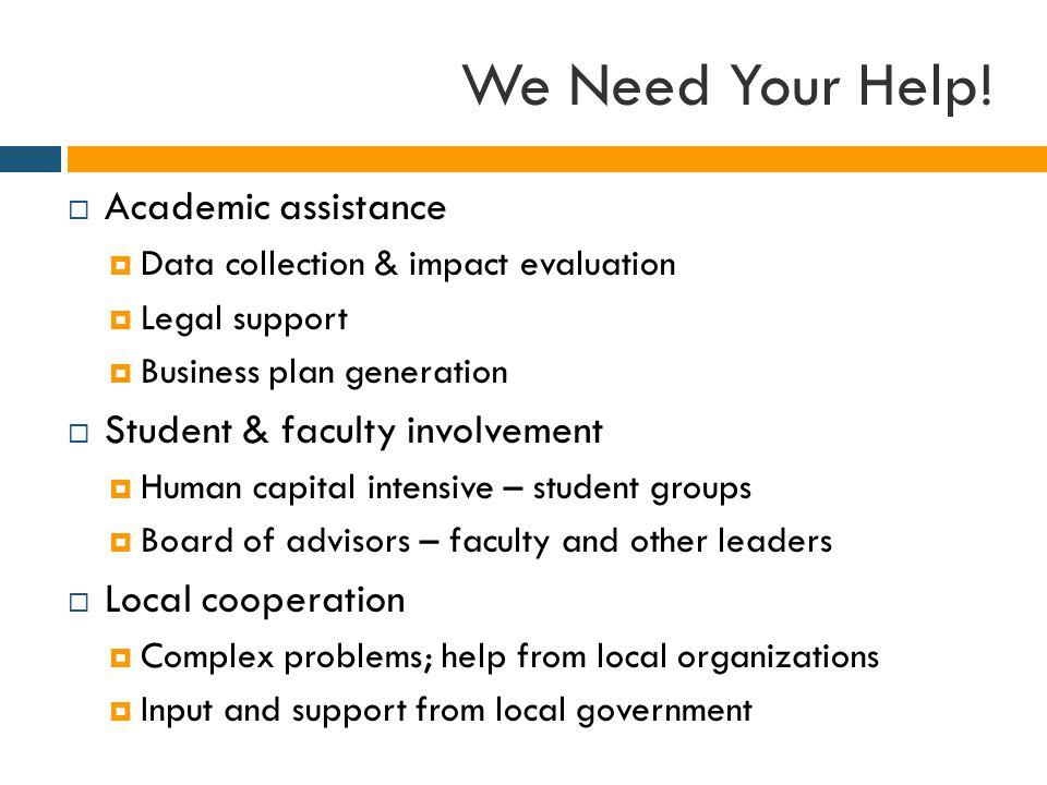 We Need Your Help.