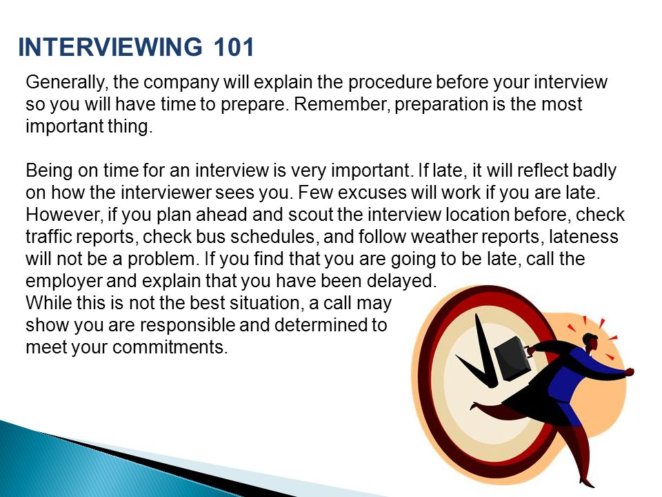 Generally, the company will explain the procedure before your interview so you will have time to prepare.