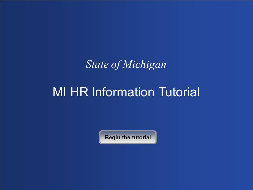 Click Next to Continue A new window opens and your MI HR Self-Service login box appears.