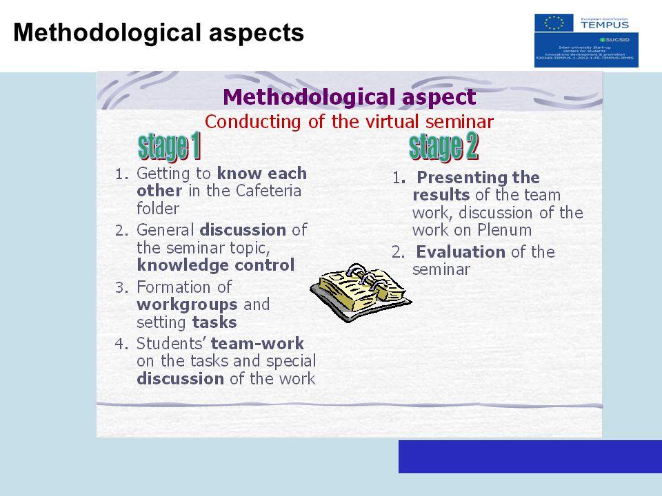 Methodological aspects