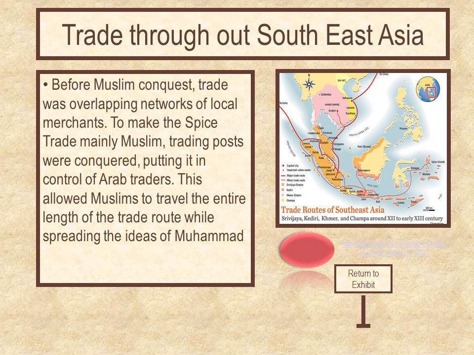 http://www.suite101.com/article.cfm/ea st_asian_history/111652 Before Muslim conquest, trade was overlapping networks of local merchants. To make the