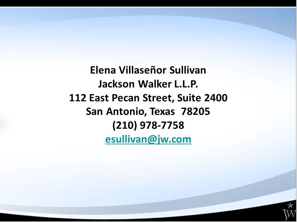Elena Villaseñor Sullivan Jackson Walker L.L.P.
