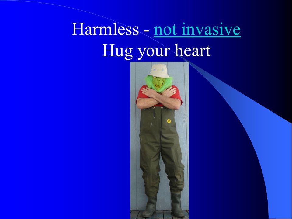 Harmless - not invasive Hug your heart