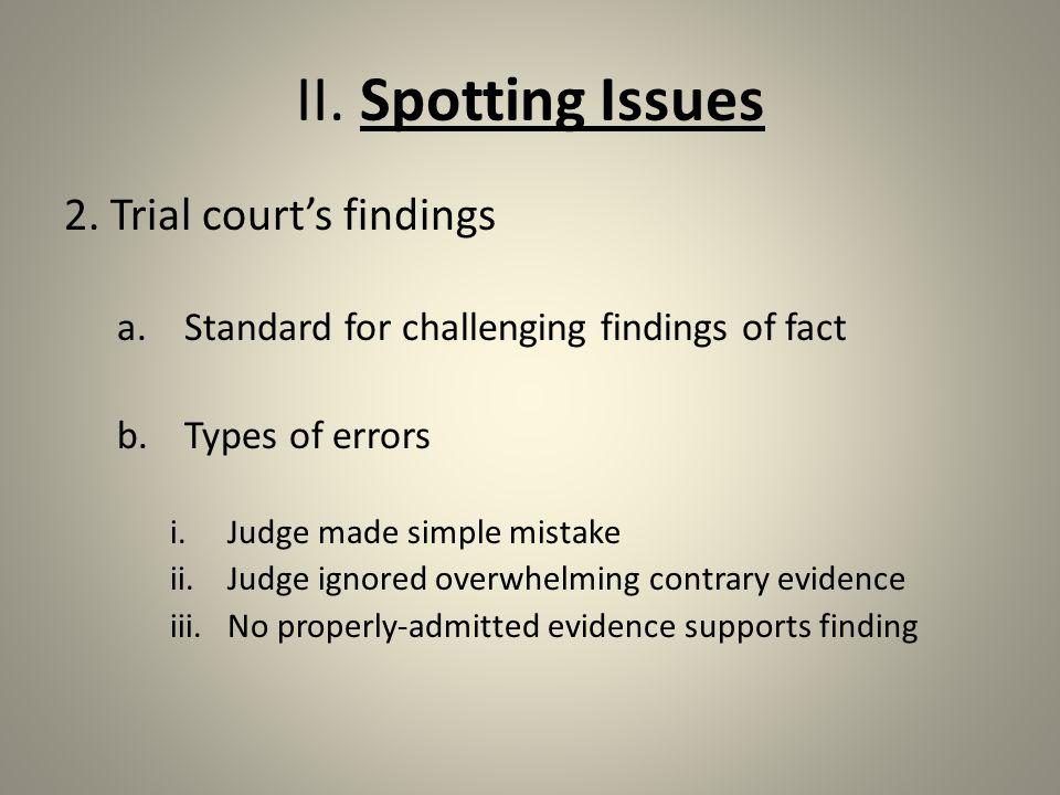 II.Spotting Issues 3.