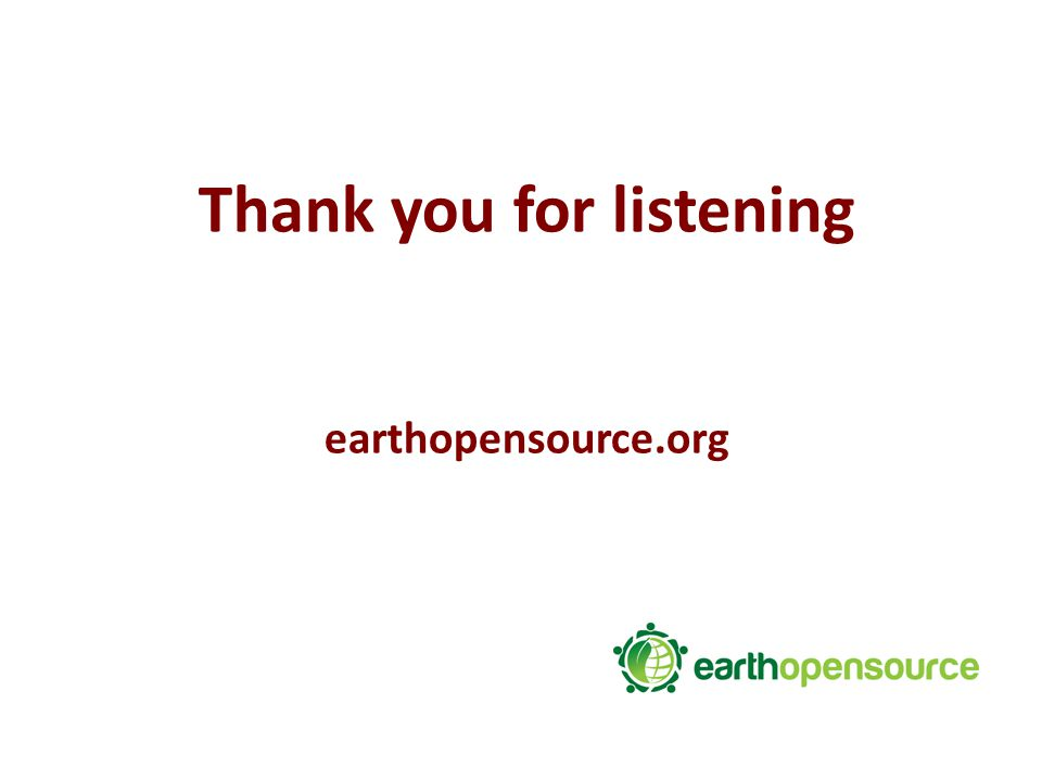 Thank you for listening earthopensource.org