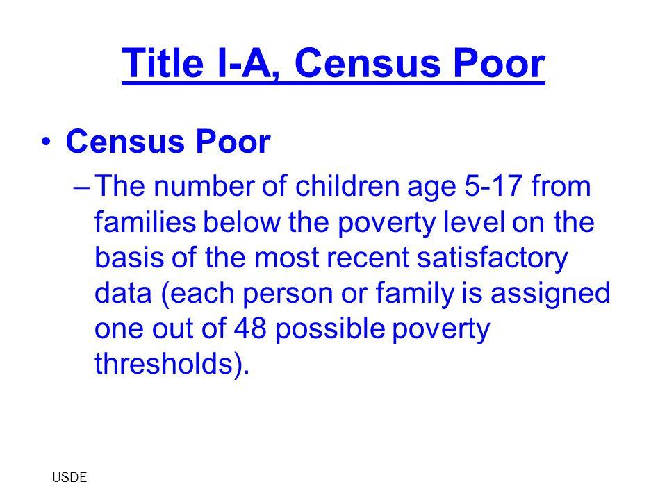 Improving Teacher Quality Title II, Part A Formula Formula Factors –Hold Harmless –Census Poor –5-17 Population –Nonpublic Share PDE