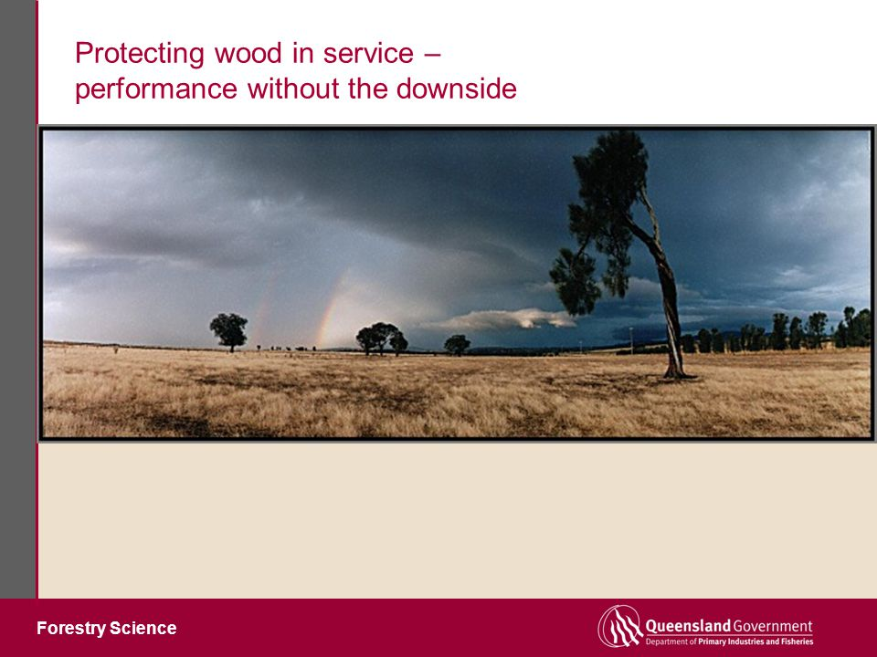 Forestry Science Protecting wood in service – performance without the downside