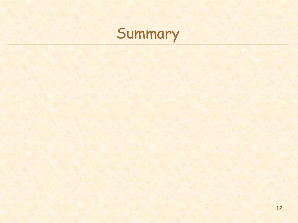 12 Summary