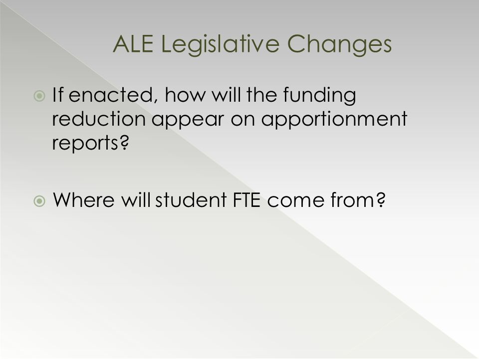  If enacted, how will the funding reduction appear on apportionment reports.