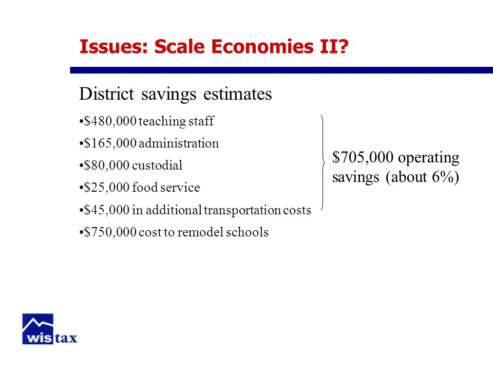 Issues: Scale Economies II.