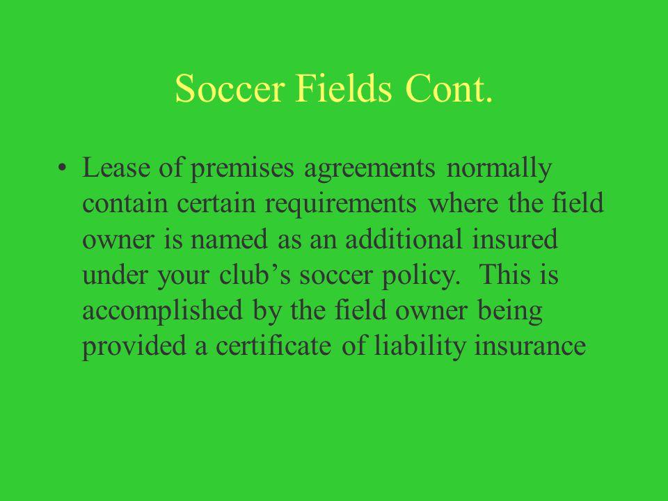 Soccer Fields Cont.
