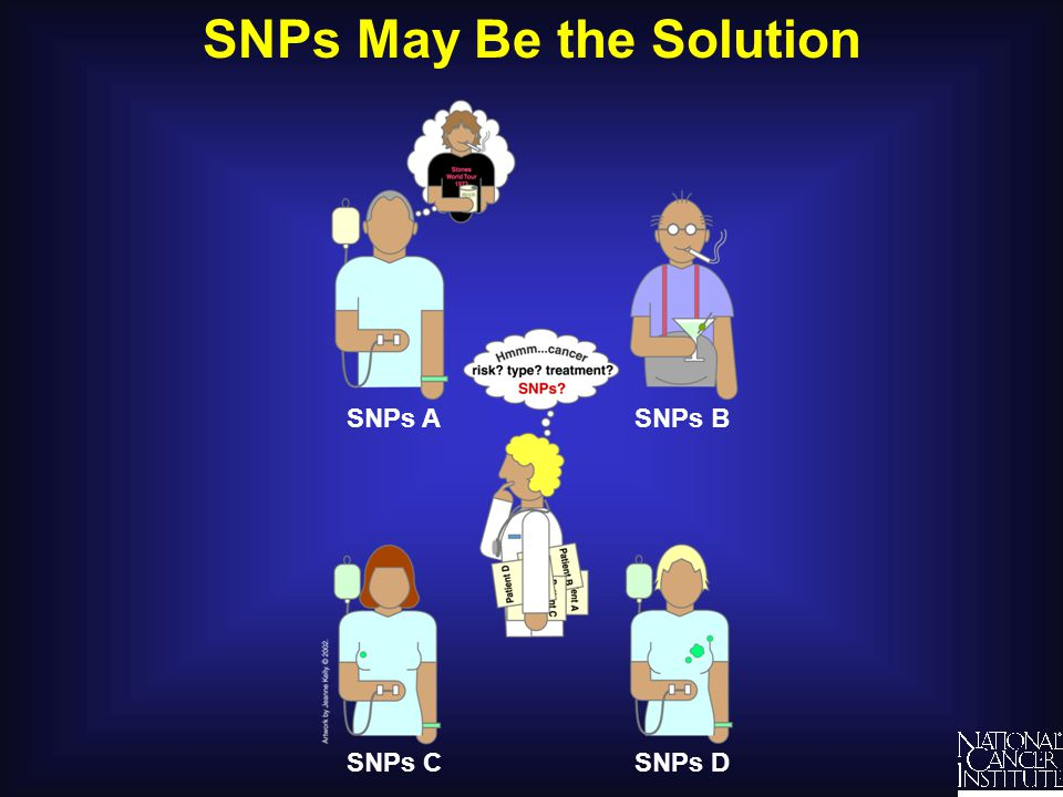 SNPs in Coding Regions – No Changes in Protein DNA SNP C to G RNA Codon CUG to CUC Protein Leucine to Leucine No change in shape Leucine mRNA G A C C U GC U C CUGCUC G A G