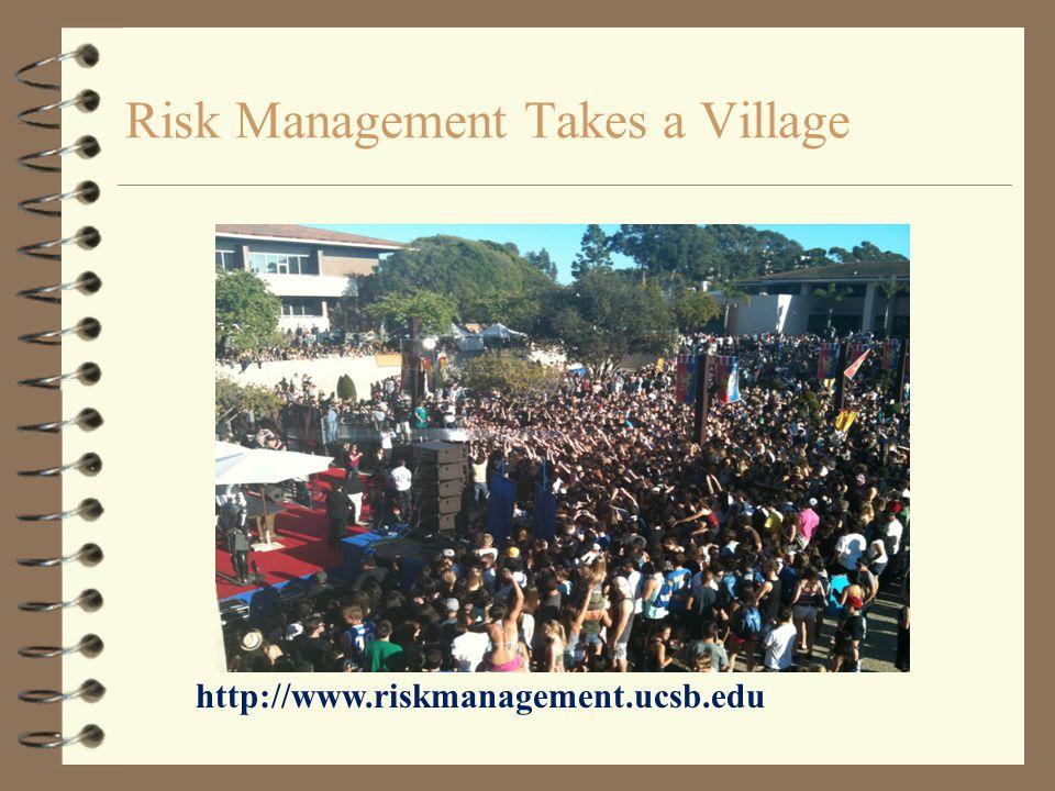 Risk Management Takes a Village http://www.riskmanagement.ucsb.edu
