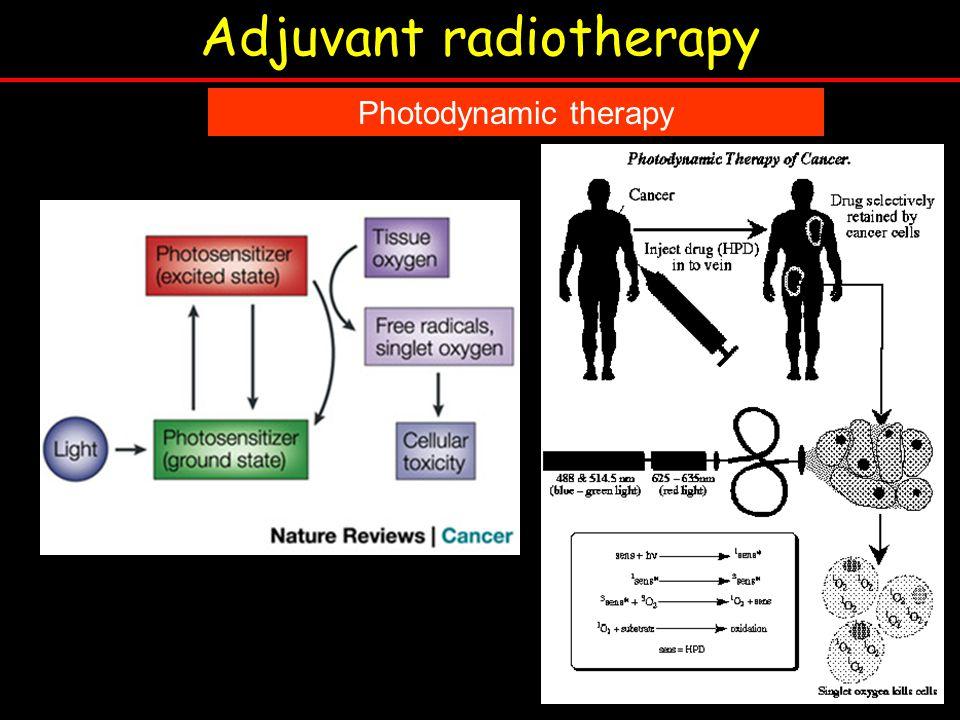 Adjuvant radiotherapy Photodynamic therapy
