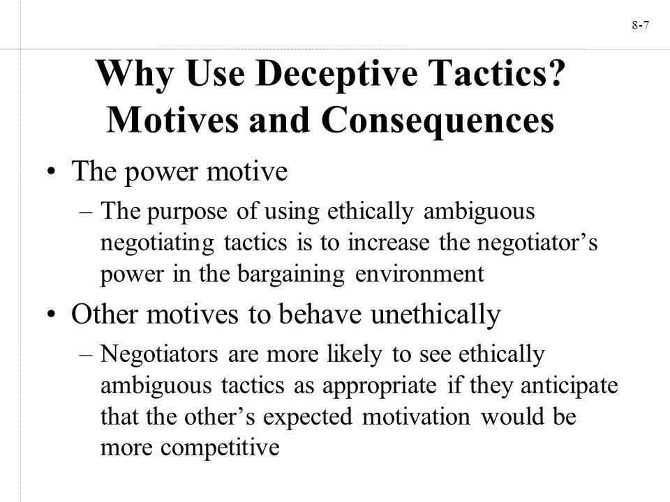 8-7 Why Use Deceptive Tactics.