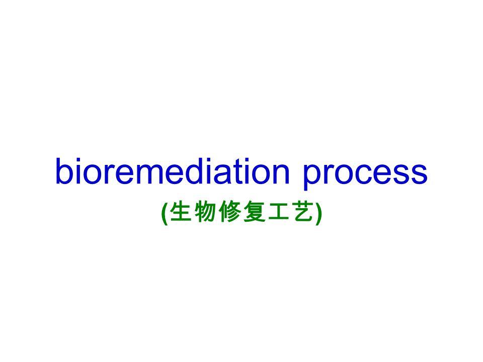 bioremediation process ( 生物修复工艺 )