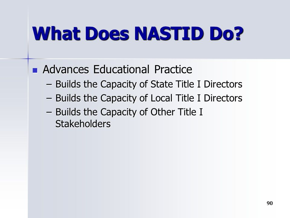 What Does NASTID Do.