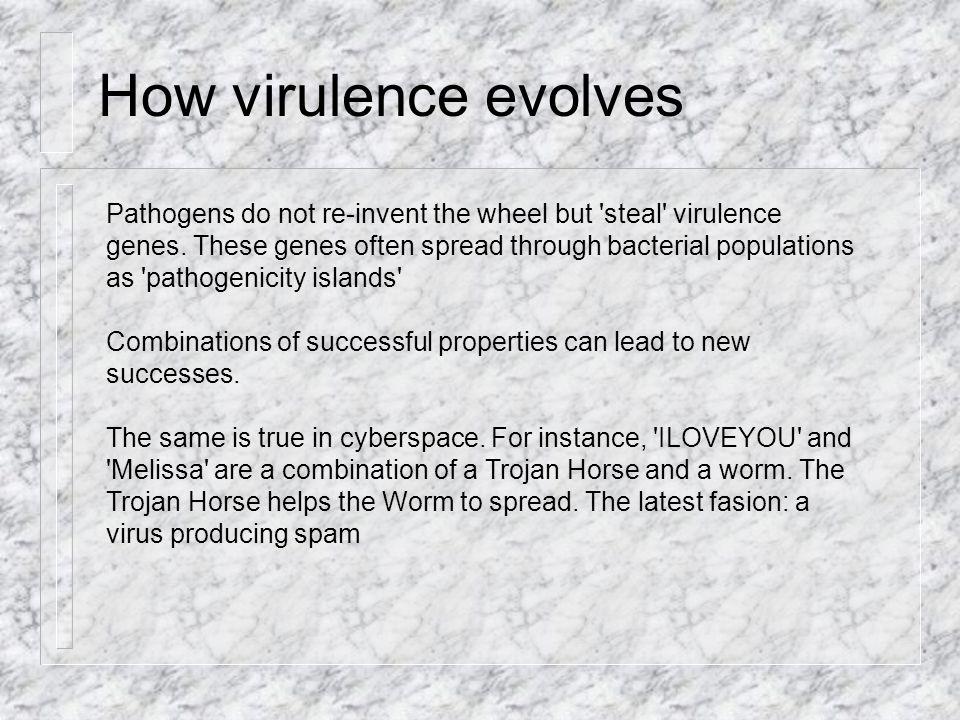 How virulence evolves Pathogens do not re-invent the wheel but steal virulence genes.