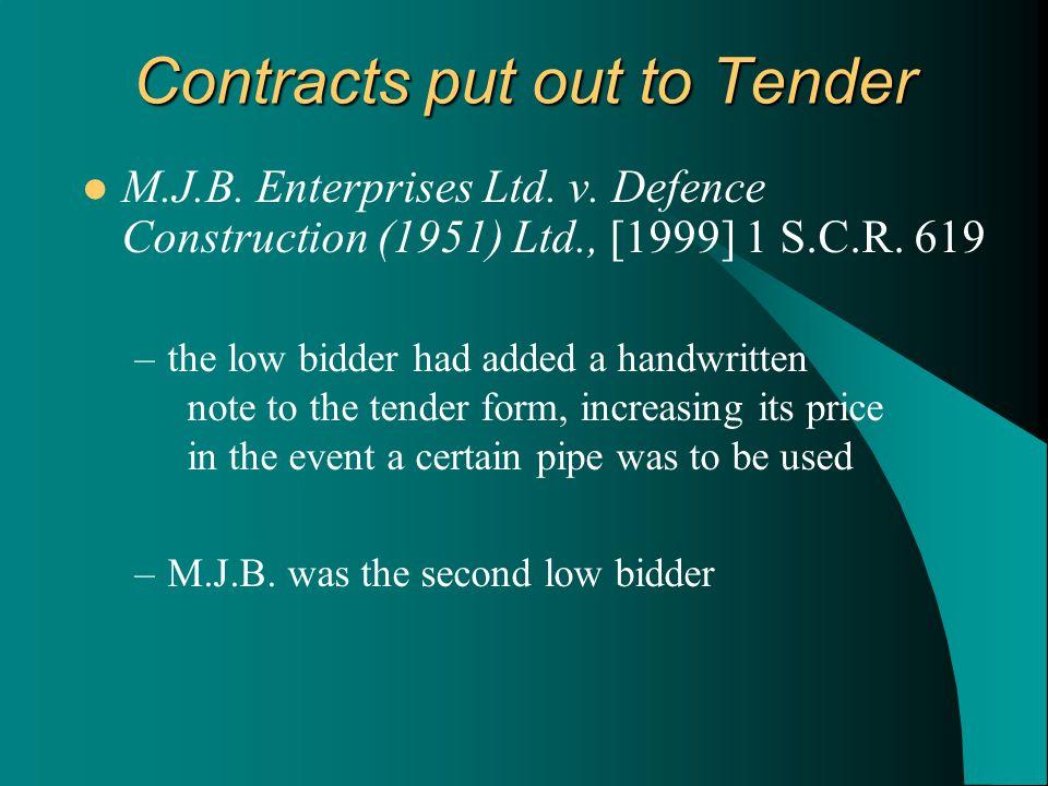M.J.B. Enterprises Ltd. v. Defence Construction (1951) Ltd., [1999] 1 S.C.R.