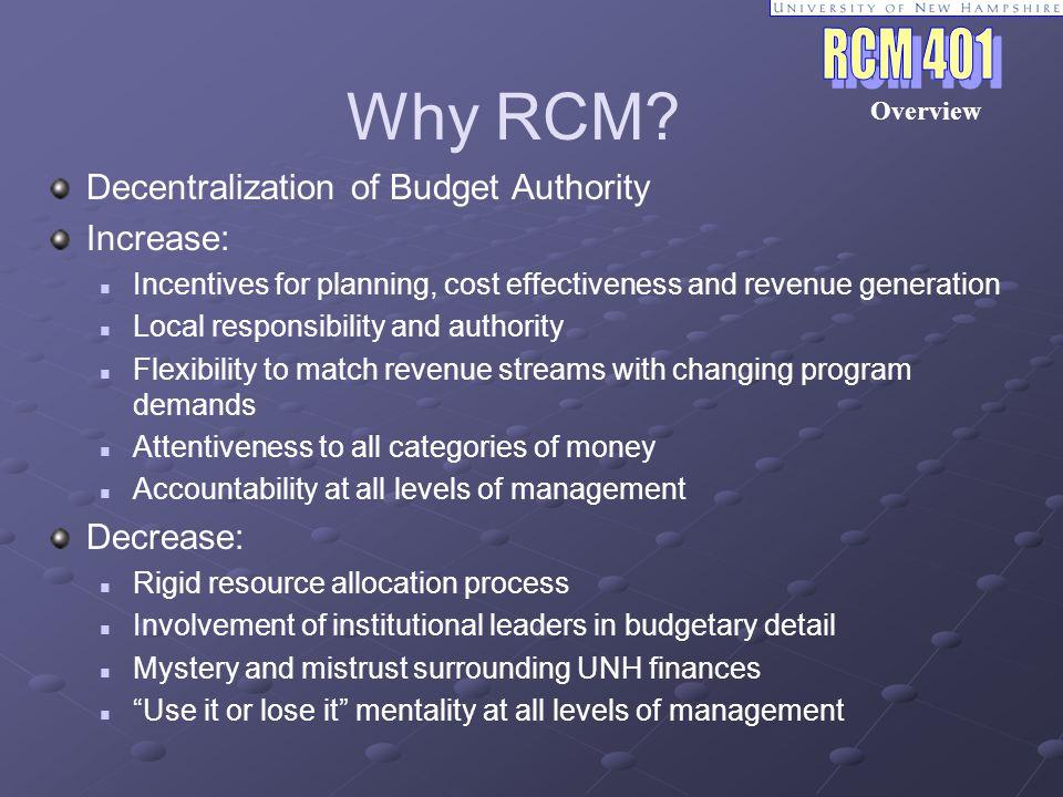 Why RCM.