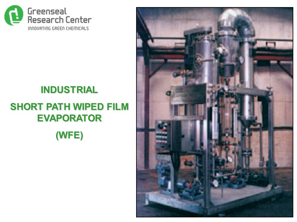 INDUSTRIAL SHORT PATH WIPED FILM EVAPORATOR (WFE)