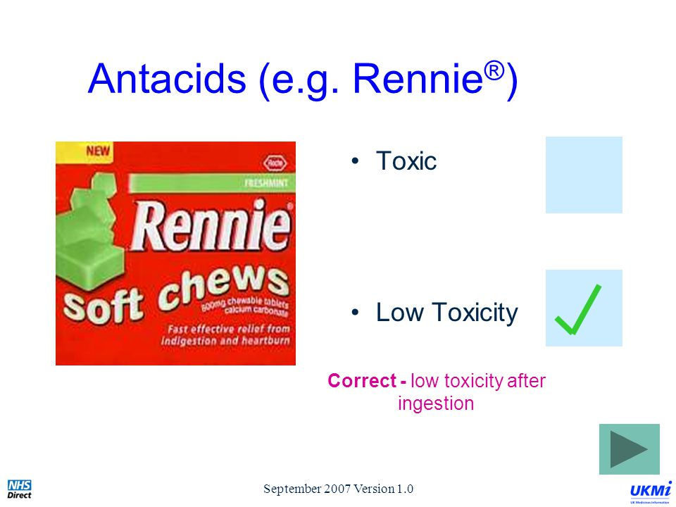 September 2007 Version 1.0 Antacids (e.g.