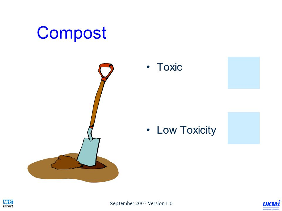 September 2007 Version 1.0 Compost Toxic Low Toxicity