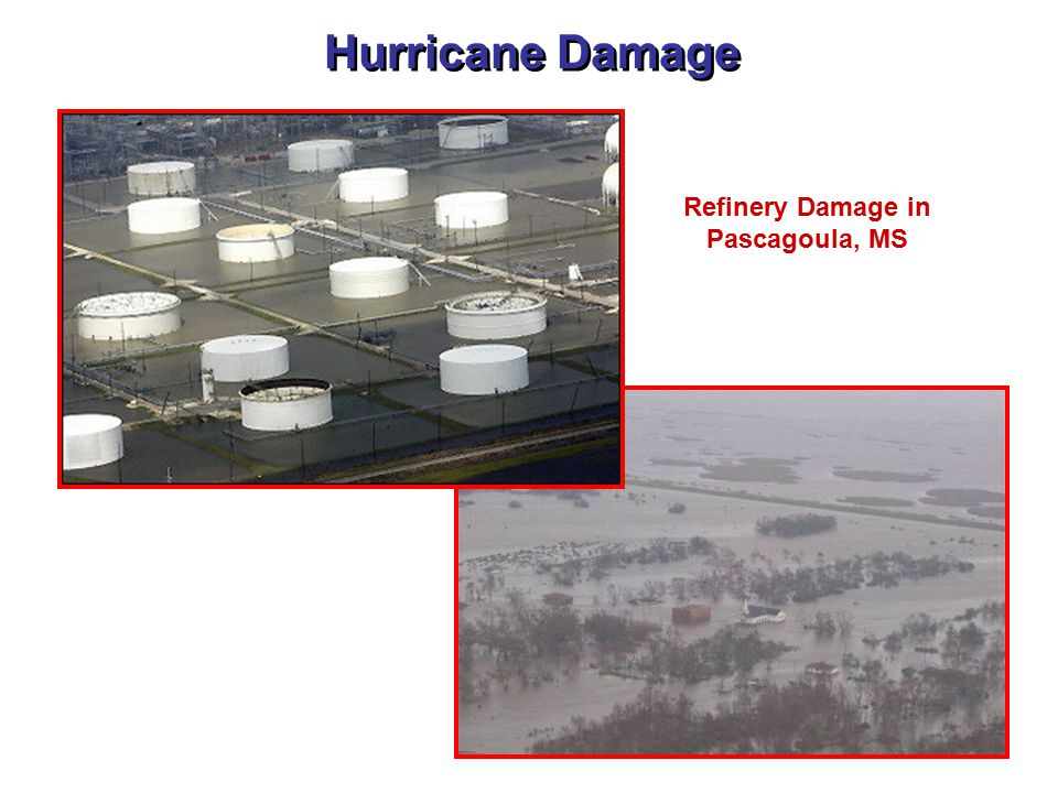 Hurricane Damage Refinery Damage in Pascagoula, MS