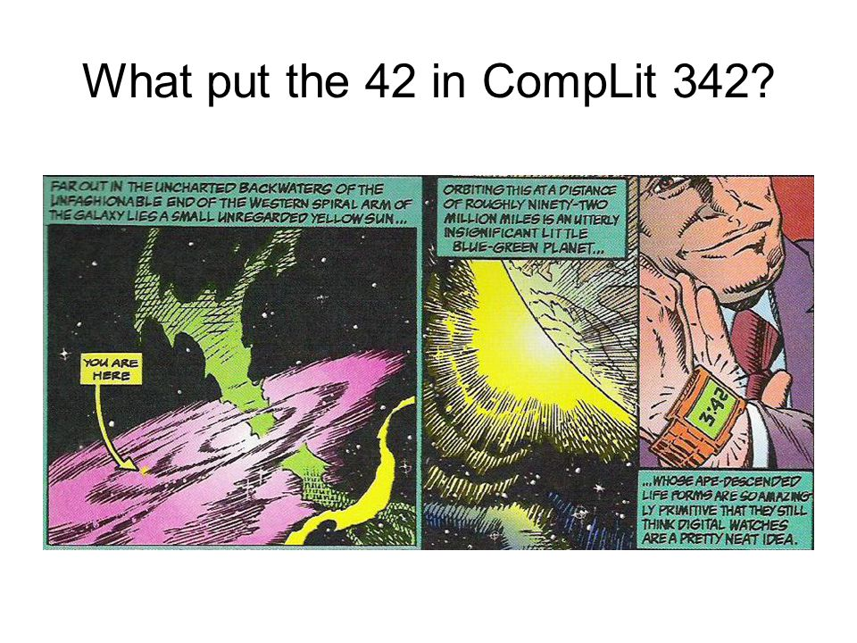 What put the 42 in CompLit 342