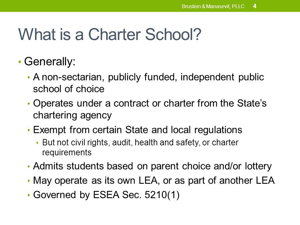 ASSURANCES In the Charter School Grant Program 25 Brustein & Manasevit, PLLC