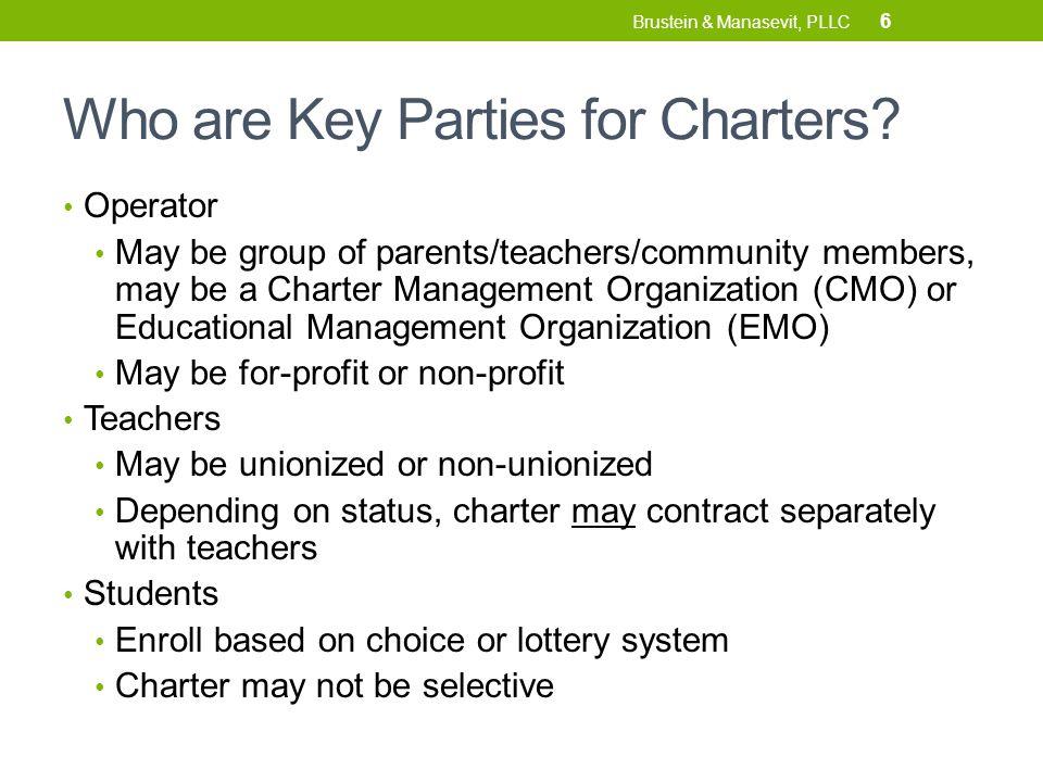 FUNDING ALLOCATIONS For Charter Schools 17 Brustein & Manasevit, PLLC