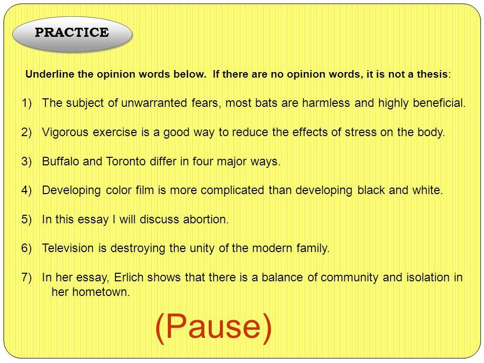 opinion statement essay abortion