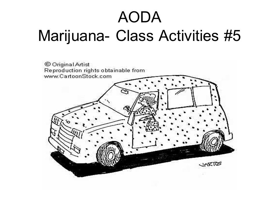 AODA Marijuana- Class Activities #5