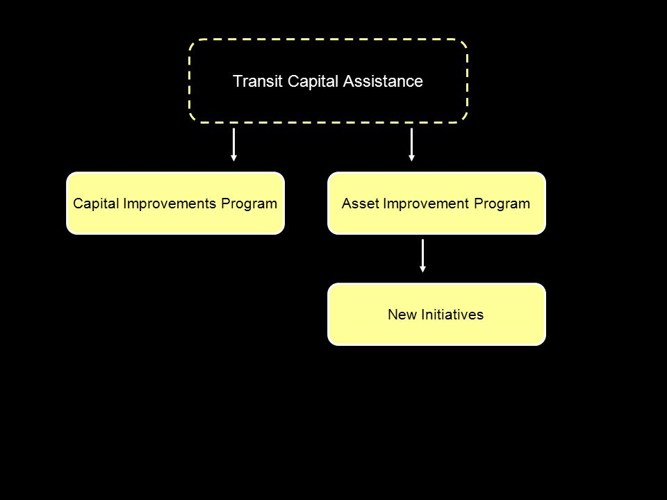 Transit Capital Assistance Capital Improvements ProgramAsset Improvement Program New Initiatives