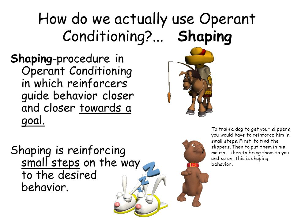 How do we actually use Operant Conditioning?...