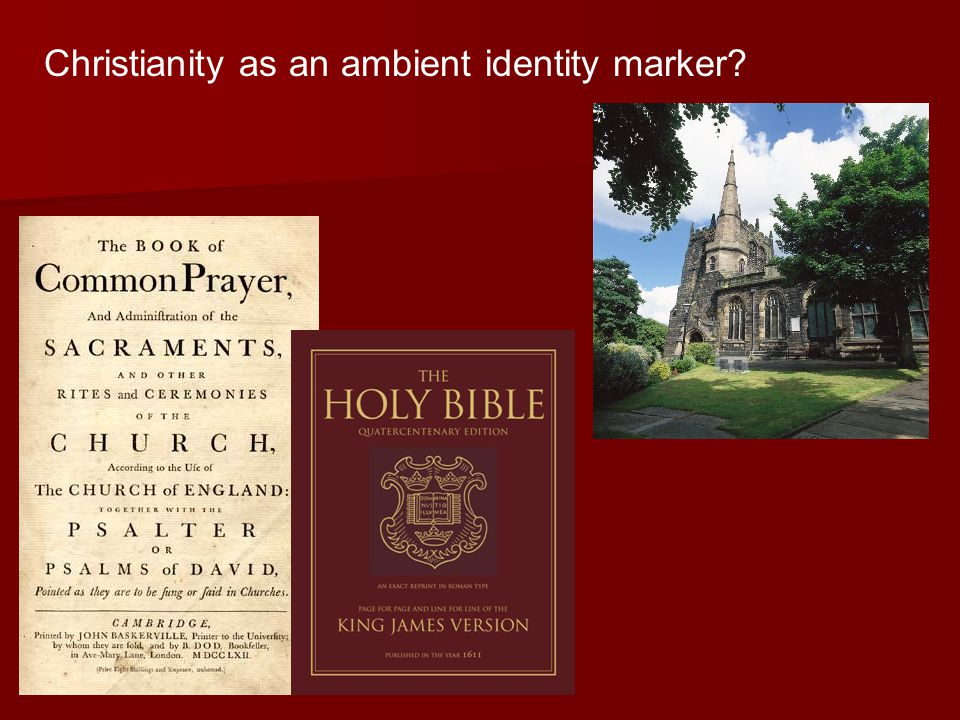Christianity as an ambient identity marker?