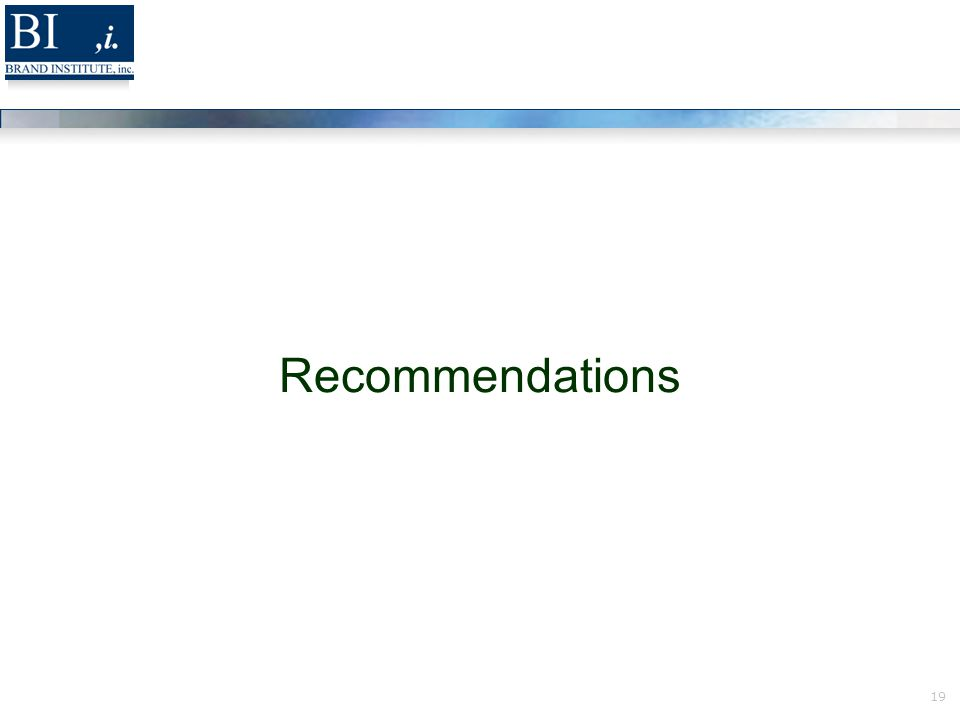 19 Recommendations