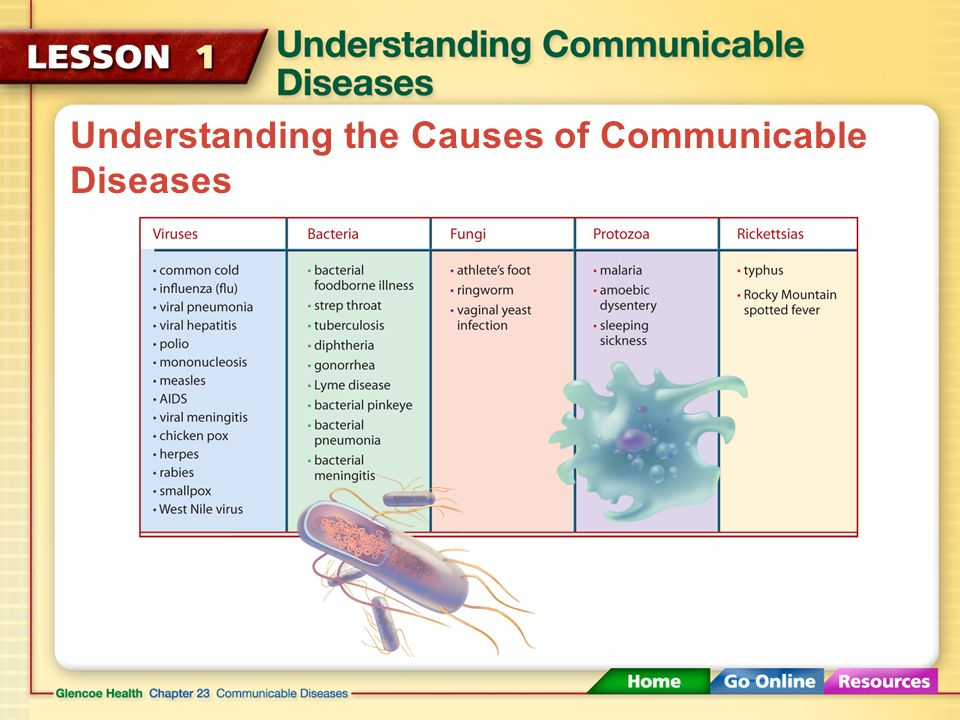 Understanding the Causes of Communicable Diseases If your body does not fight off the invaders quickly and successfully, you develop an infection.