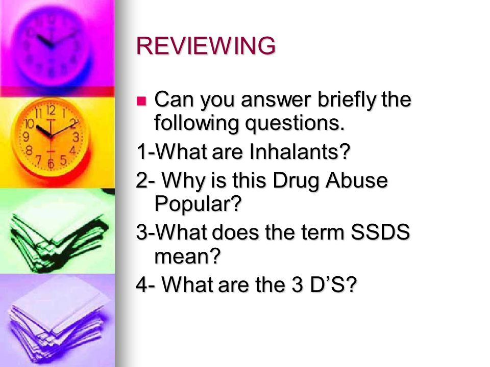 REVIEWING Can you answer briefly the following questions.