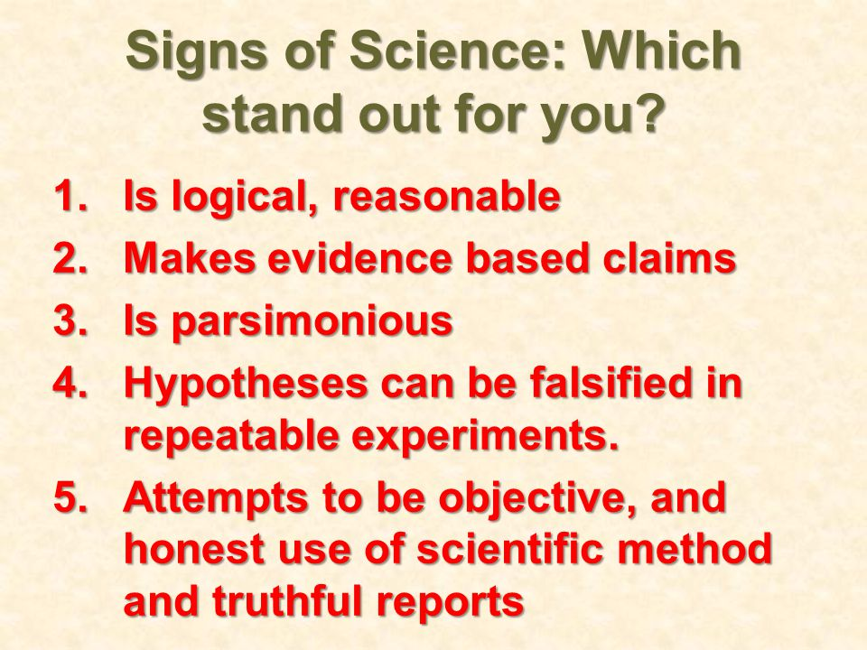 Signs of Science: Which stand out for you.