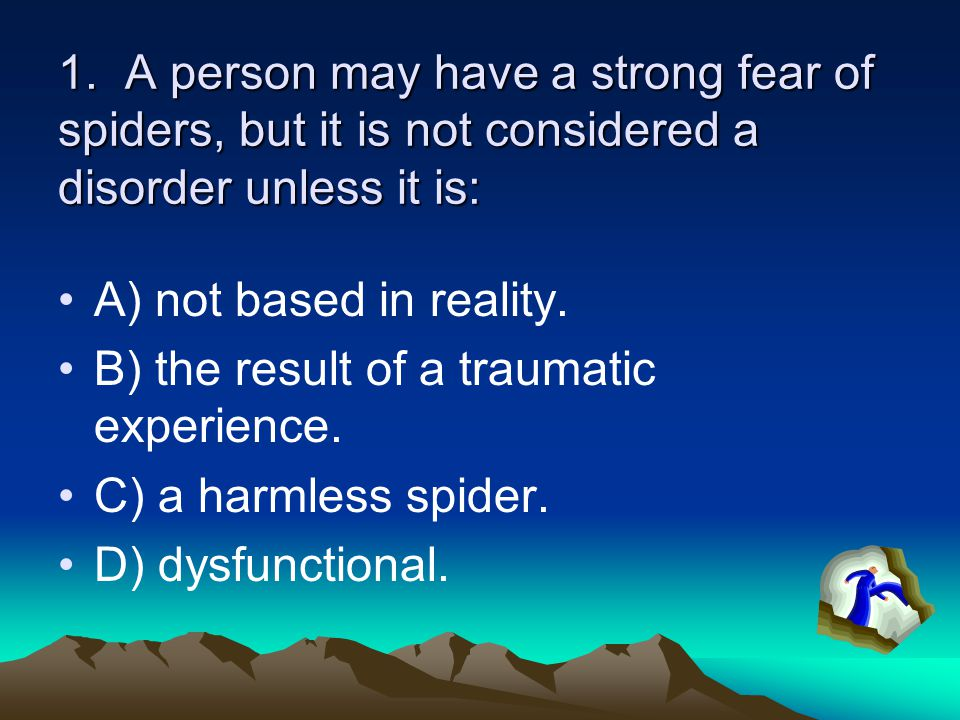 22.The most common type of false perceptions in schizophrenia are: A) delusions of grandeur.