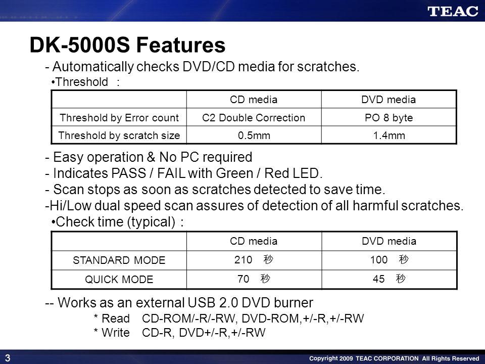 4 Disc Checker DK-5000S Case Study 1 At on-line rental stores/kiosks .