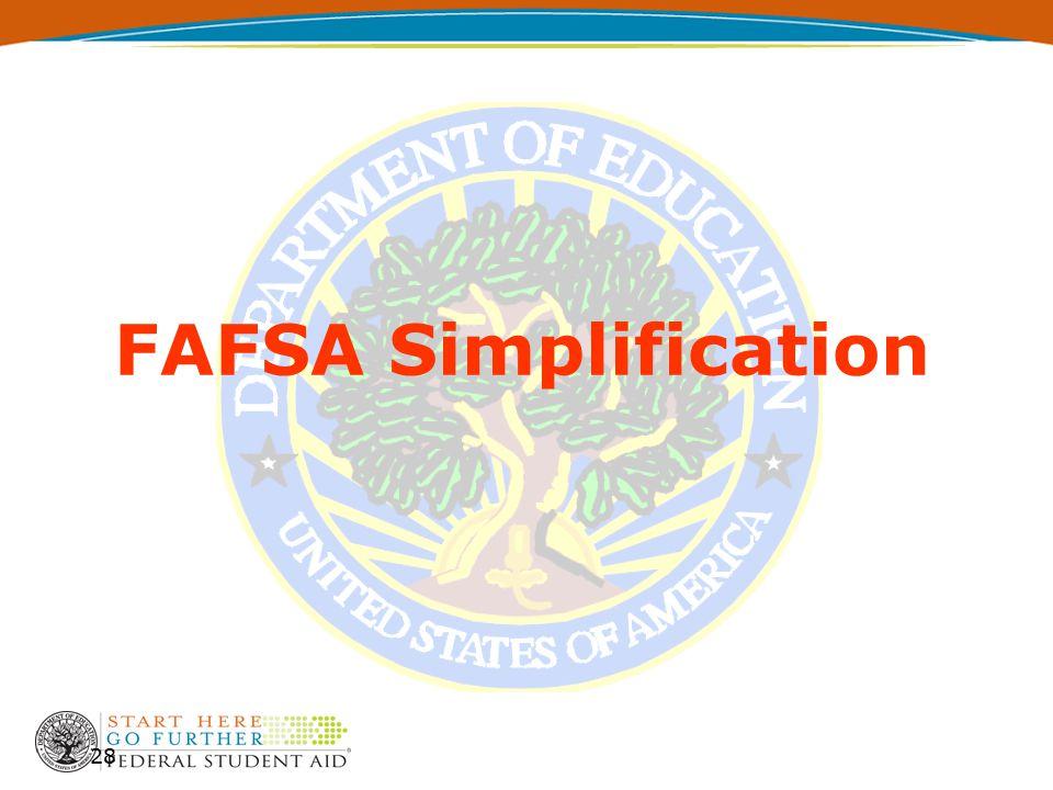 28 FAFSA Simplification