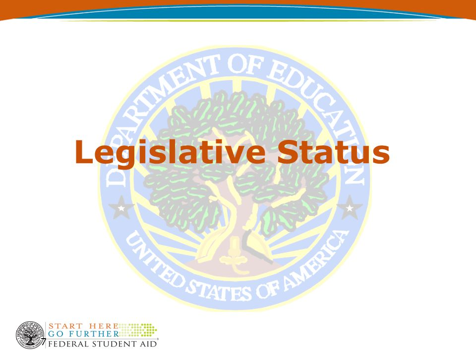 8  Student Aid and Fiscal Responsibility Act of 2009 (HR 3221)  Passed the House on September 16  Senate drafting – similar provisions  Expect committee mark-up in next few weeks  Floor action to follow Legislative Status