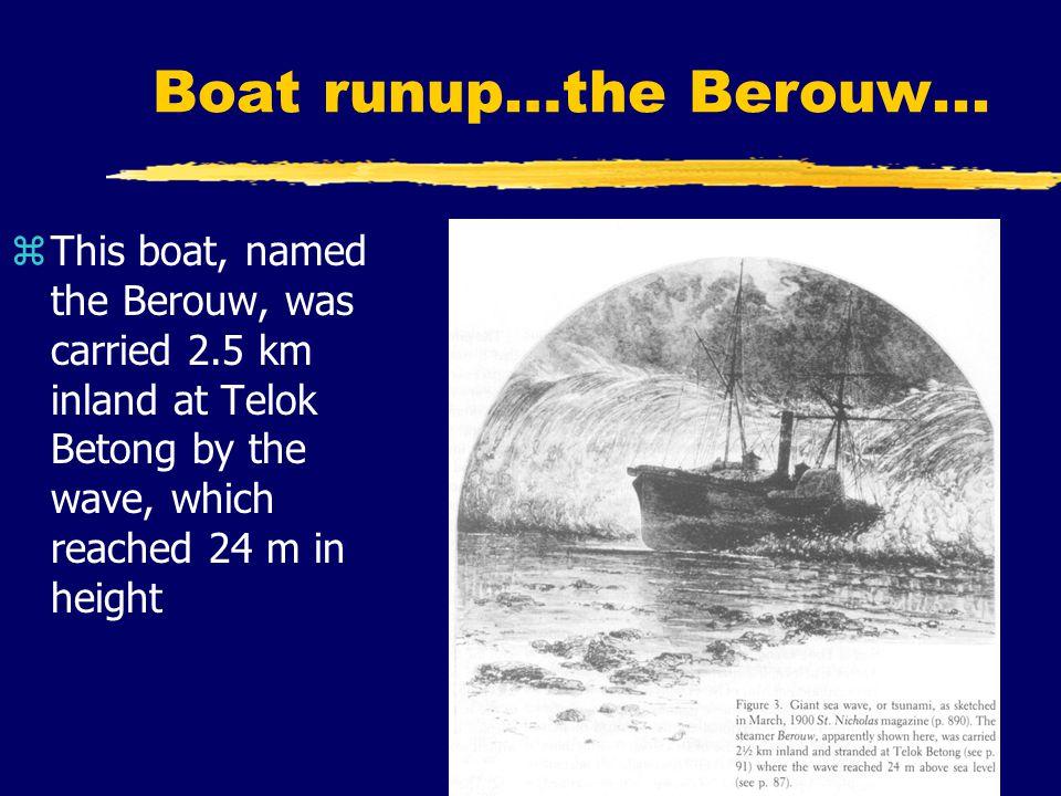 Boat runup…the Berouw...