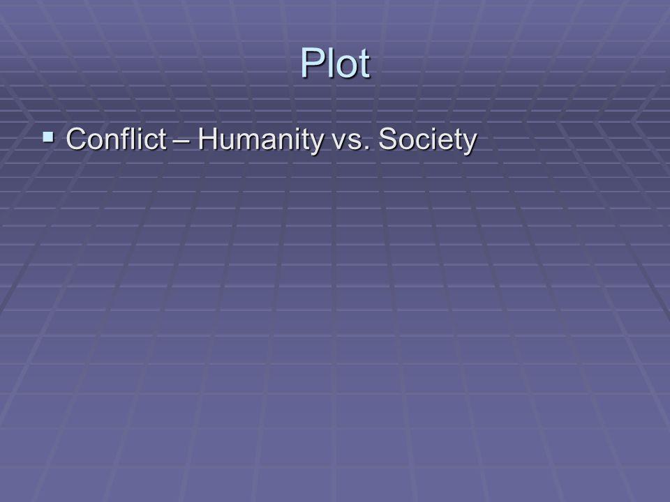 Plot  Conflict – Humanity vs. Society