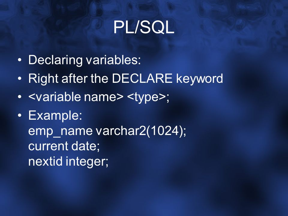 PL/SQL IF-statements: IF THEN ELSIF THEN END IF; The ELSIF branch is optional