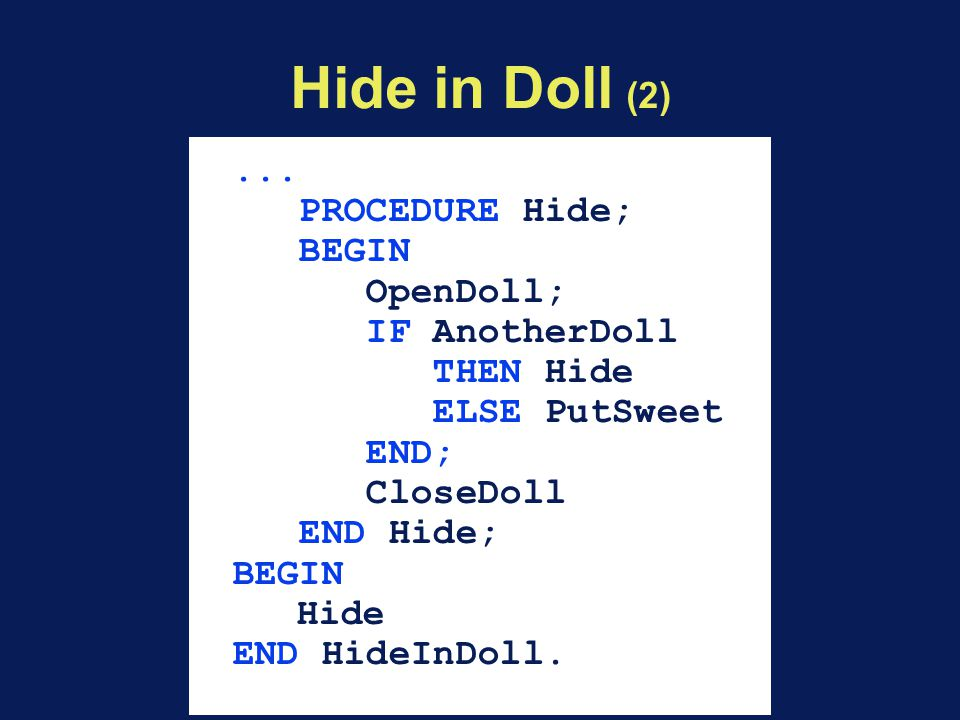 Hide in Doll (2)...